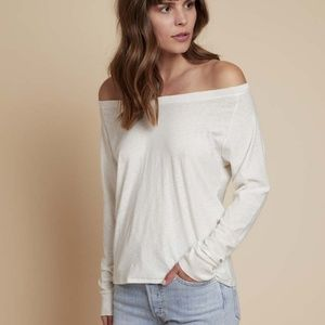Nation LTD Off the shoulder easy tee shirt XS